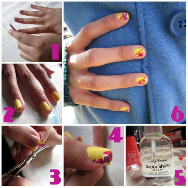 color blocking tutorial sally hansen
