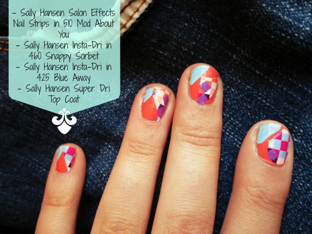 Sally Hansen Color Blocking Nail Art